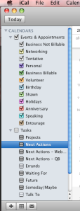 iCal categories